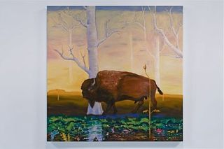 Buffalo Finding His Intuition, Trine Churchill