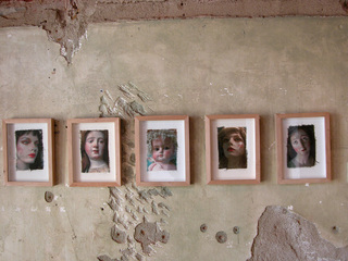 Faces on fabric by Cidne,