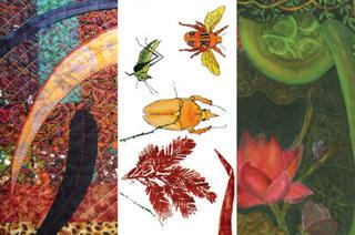 Paint, Print, & Stitch promotional image, Christine Cariati, Deborah Franzini, Victoria Kirby