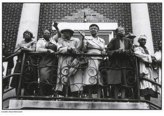 Church Mothers Outside the Mt. Zion AME Church, Montgomery, Alabama,Dan Budnik