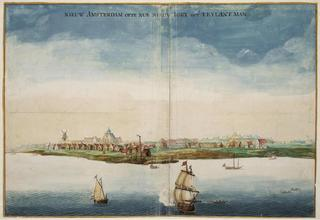 View of New Amsterdam,Johannes Vingboons