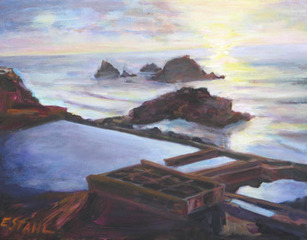 Sutro Baths Sunset,Elizabeth Stahl