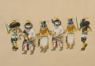 Untitled- Fred Kabotie (Nayayoma), Fred Kabotie