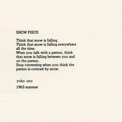 Snow Piece, Yoko Ono