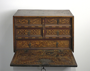 Small Fall-Front Cabinet, Ex-collection Charlotte Albright, Italy or Spain