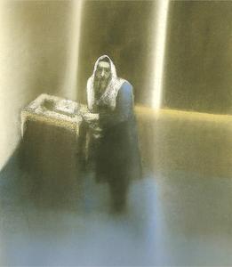 Il_rebbe_schneerson_dei_lubavich__1991__cm_88_x_68__offenburg__vecchia_sinagoga_full