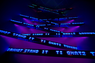 Green Purple Cross and Blue Cross, Jenny Holzer