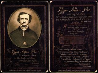 Show poster/card, Edgar Allen Poe