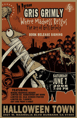 2008 Gris Grimly art show and book signing event poster, Gris Grimly