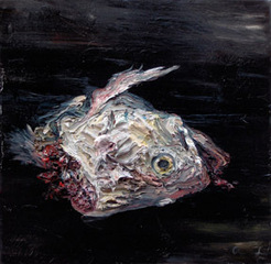 Allison Schulnik, Fish Head,