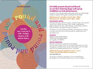 Round and Round Show Postcard Art, Graphic Design by Barbara Kosoff