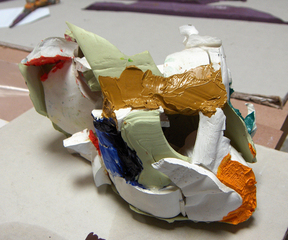 "\'PAINT MODEL 1\' - ""Painting Towards form"", Christopher Lawrence Mercier"