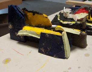 "\'PAINT MODEL 2\' - ""Painting Towards form"", Christopher Lawrence Mercier"