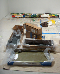 Paintings in Progress - Casting Paint,Christopher Lawrence Mercier