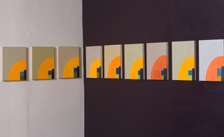 Orange Arc (part of 25-panel oil painting series), Danielle Shelley