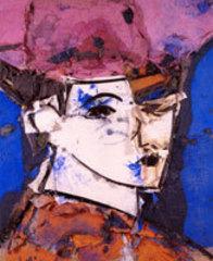 Arielle sobre fondo azul, Manolo Valdés