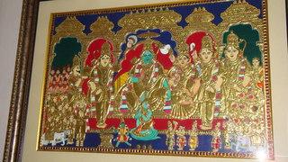 rama pattabhisheka tanjore, godha lakshmi