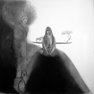 More_eccentrickery_2_charcoal_on_paper_59_x_59