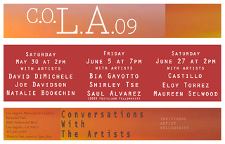 Conversations with the Artists postcard,