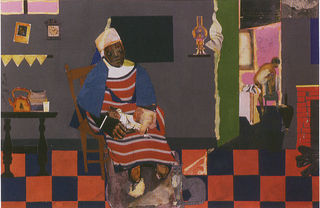 The Grey Cat,Romare Bearden