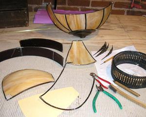Lamp repairs, slumped,