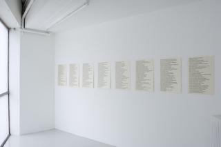 Installation view, Jenny Holzer