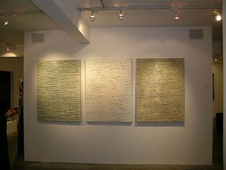 """Study in White""  Triptych, ROGER WEIK"