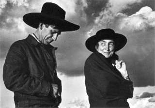 Ansel Adams- Georgia O\'Keeffe and Orville Cox, Canyon de Chelly National Monument, Arizona,