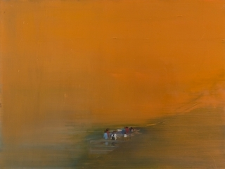 Overlook (Orange Landscape),Barbara Friedman