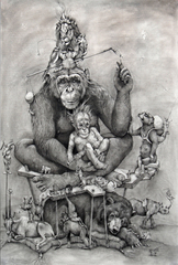 Chimp & Baby, Adonna Khare