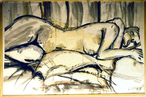 Woman_lying_down__mixed_media