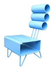 Bleu Marge Chair, Earl Parson