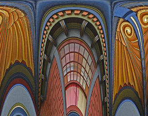 "ART DECO from ""Architectural Fantasies"" series,Sonia Melnikova-Raich"
