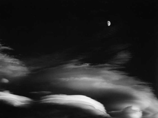 Moon and Clouds, Banff, Alberta, Alan Ross