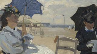 The Beach at Trouville, Claude-Oscar Monet