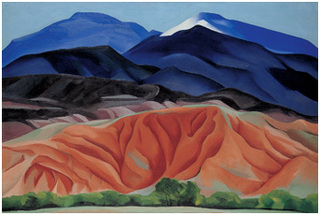 Black Mesa Landscape, New Mexico / Out Back of Marie\'s II, Georgia O\'Keeffe