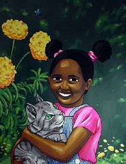 Girl with Cat, Lamar Peterson