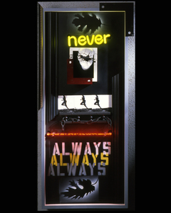 Elaine_jason_never_always_mixed_media_wall_sculpture_w_neon_49_x_23_2008_2000