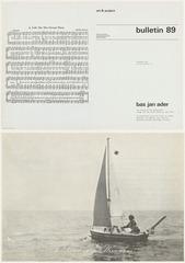 Art & Project Bulletin 89, Bas Jan Ader