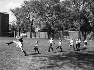 Drum Major and Children, University of Michigan, Alfred Eisenstaedt