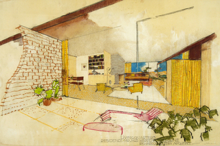 Living Quarters, Residence of Mr. & Mrs. Warren Tremaine, Santa Barbara, CA, Richard Neutra