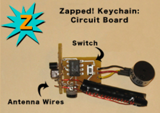 "Zapped! Workshop Diagram, ""How to Make a Keychain RFID Detector"",Preemptive Media"