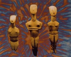 Three Female Statuettes, Victor Raphael