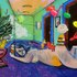 Cande_aguilar_inside_job_2009_acrylic___oil_on_panel_65x96inches