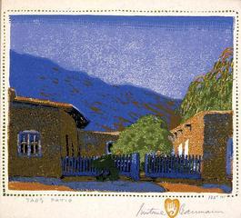 Taos Patio, Gustave Baumann (1881-1971)
