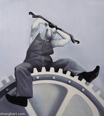 Charles Chaplin-Modern Times 6, Zhou Tiehai
