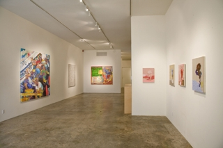 Wet Paint: Ten Young LA Painters,Installation view