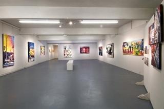 Detail of exhibition, Michael Giancristiano, James P. Scott