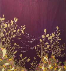 Ruby and Gold Water Web, Benicia Gantner