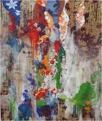 Acrylic/Collage, Jonathan Clark